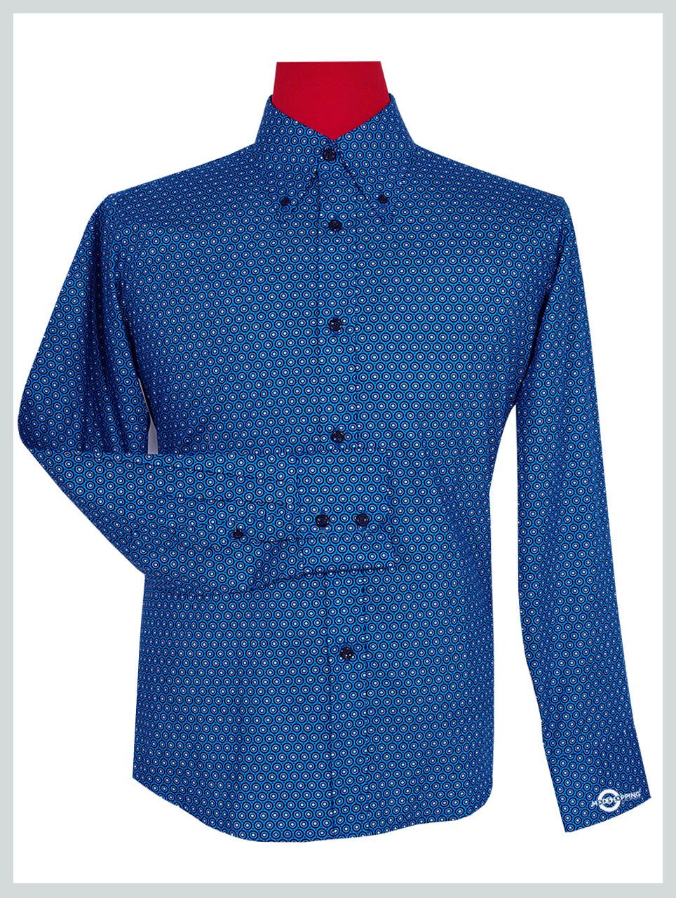 Blue Circle Long Sleeve Shirt