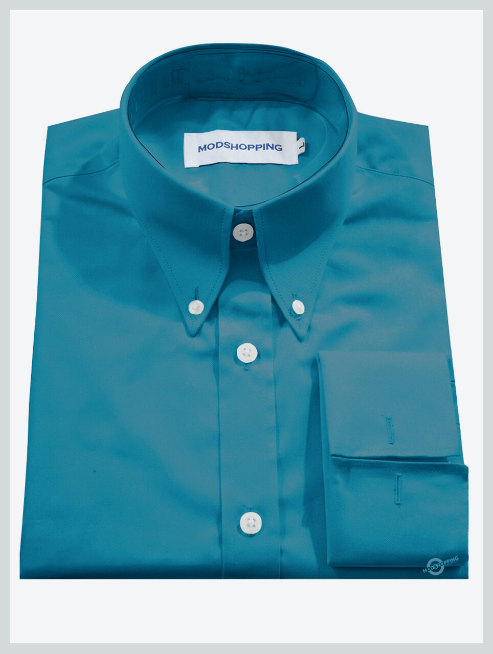 High Collar Deep Sky Blue Shirt  Formal Shirts For Men