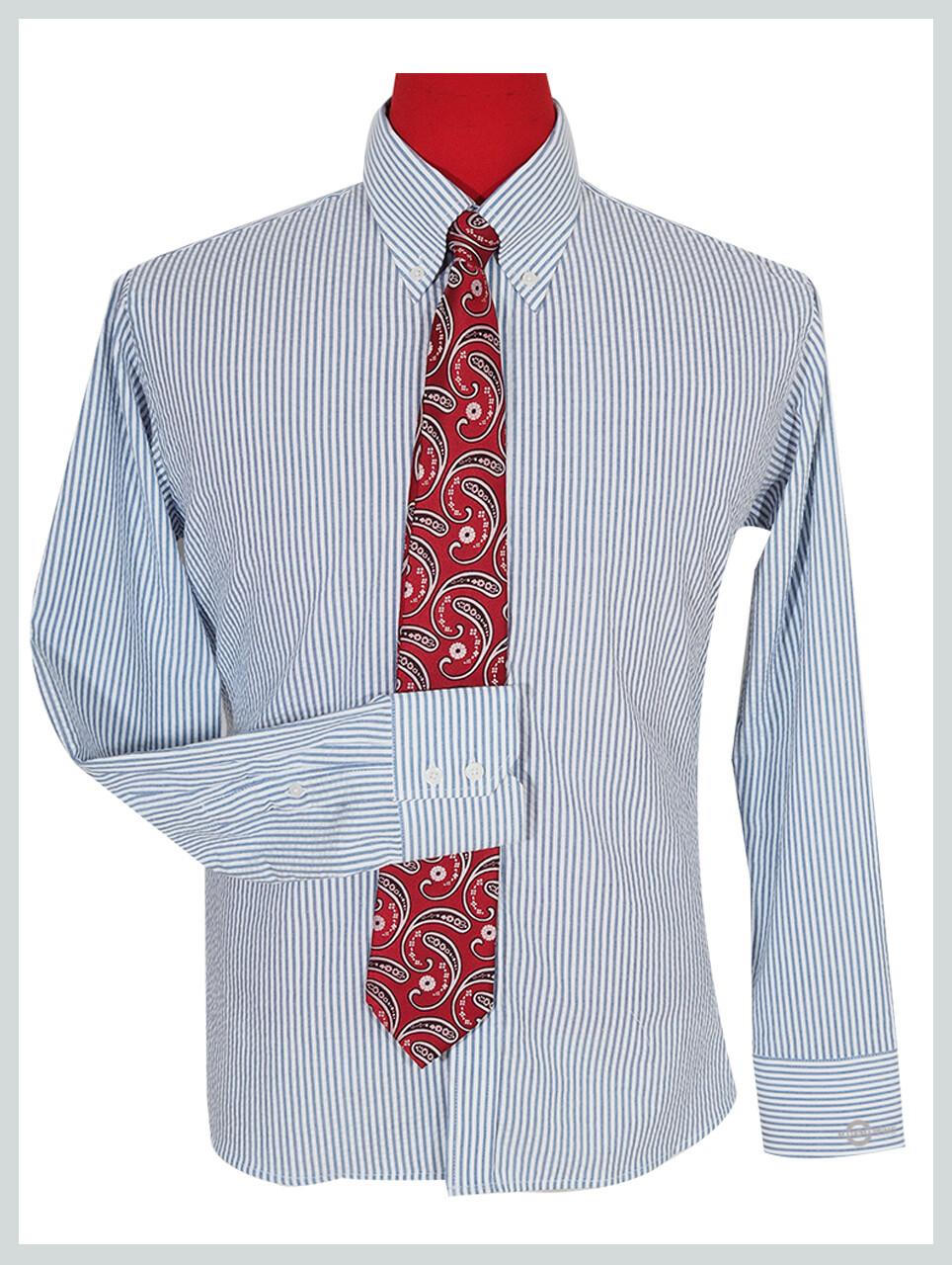 Long Sleeve Shirt | Seersucker Summer Shirt