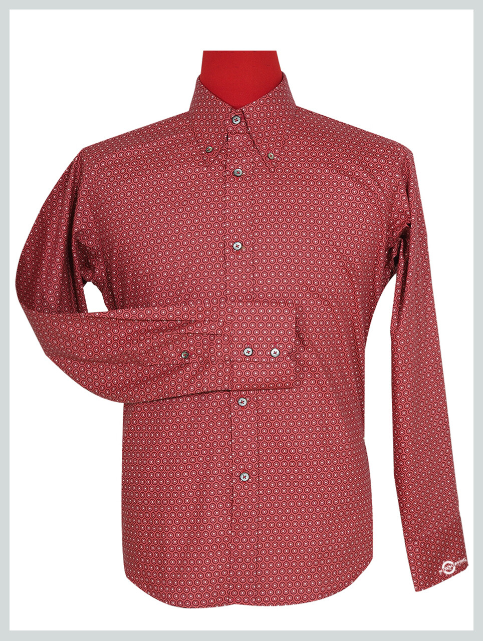 Red Circle Long Sleeve Shirt