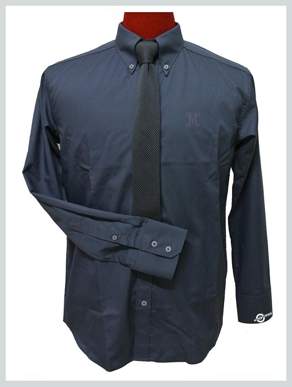 Grey Button Down Collar Shirt| 60s Mod Style