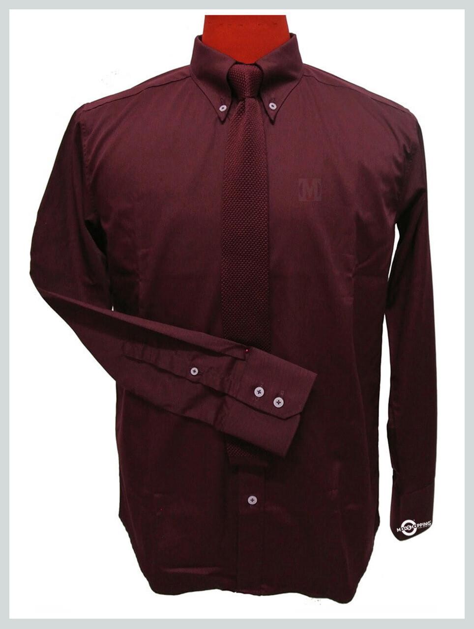 Burgundy Button Down Shirt| Mens Dress Shirt