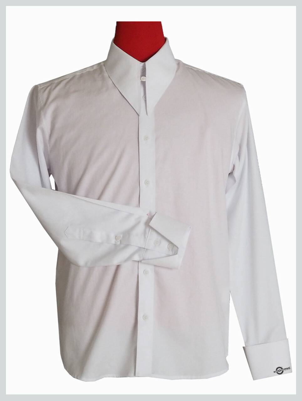 Spearpoint Collar 60'S Mod Style White Collar Shirt