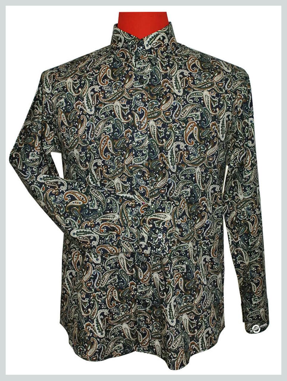 Paisley Shirt | 60s Mod Style Casual Shirt