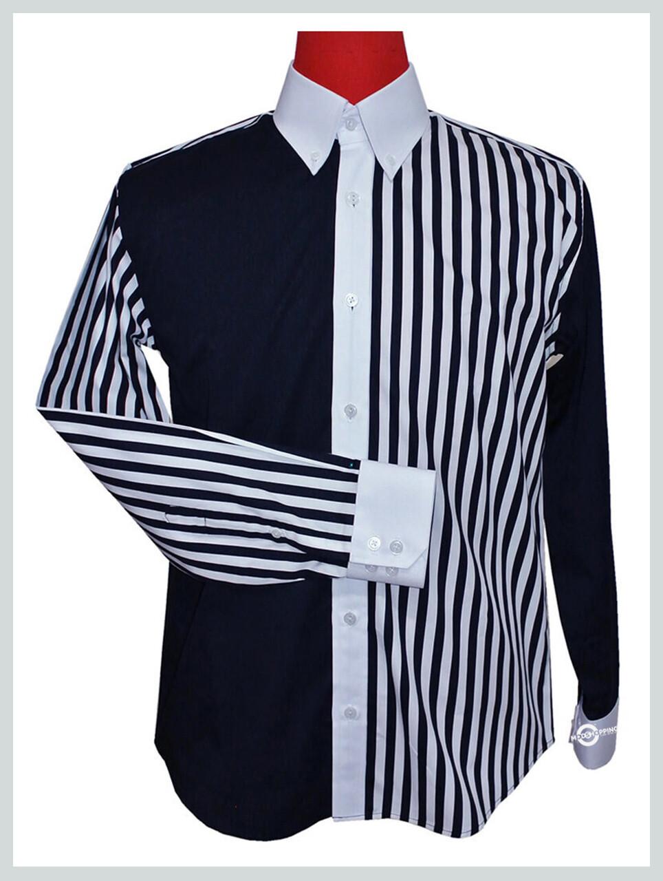 Button Down Shirt| Roger Daltrey Classic Mod Navy Blue Shirt