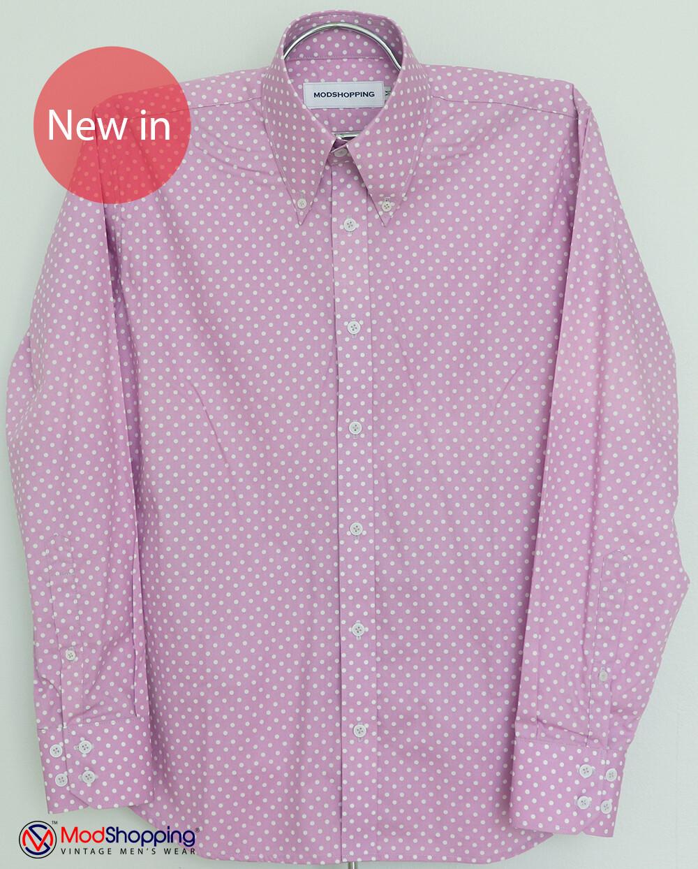 Lilac Small Polka Dot Shirt