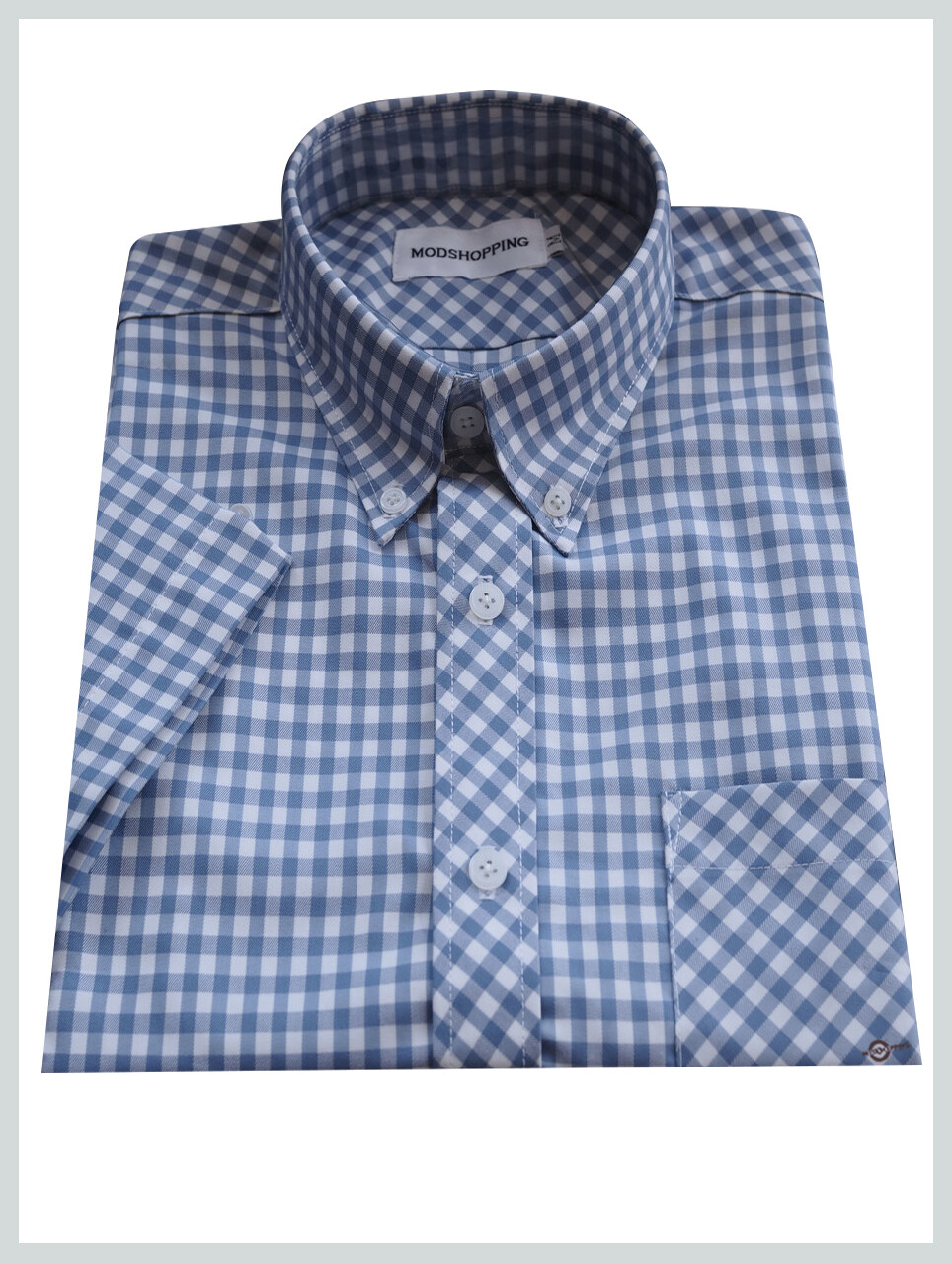 Gingham Shirt| Tailore Made Mens Slim Fit Ocean Blue Colour Shirt
