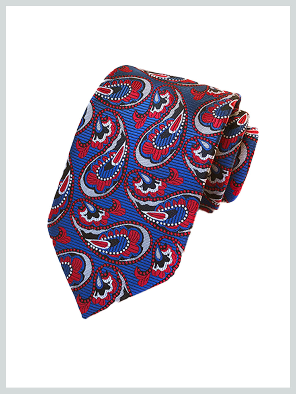 Knitted Tie | Multi Color Paisley Tie