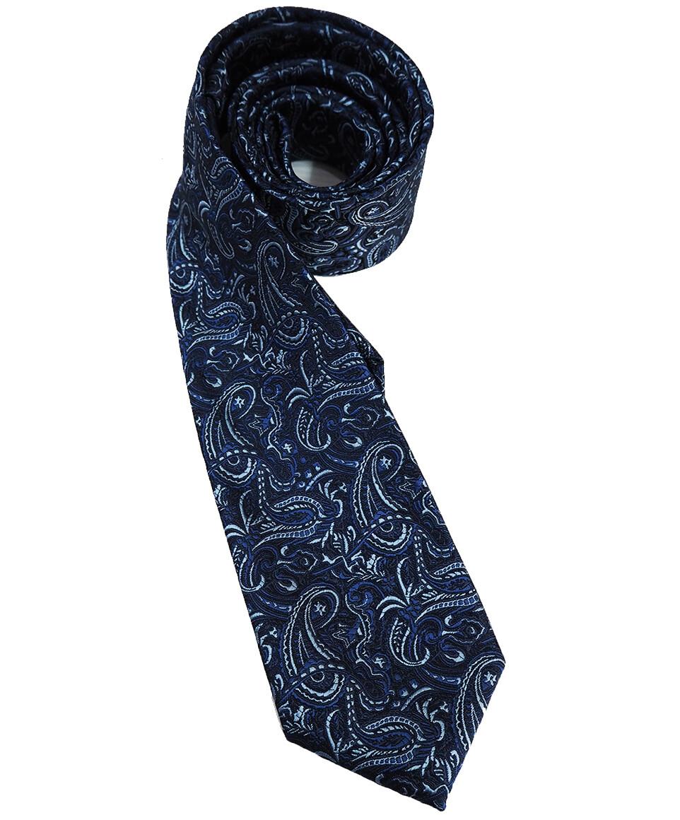 Paisley Tie| 60s Mod Style Blue Tie Online For Sale