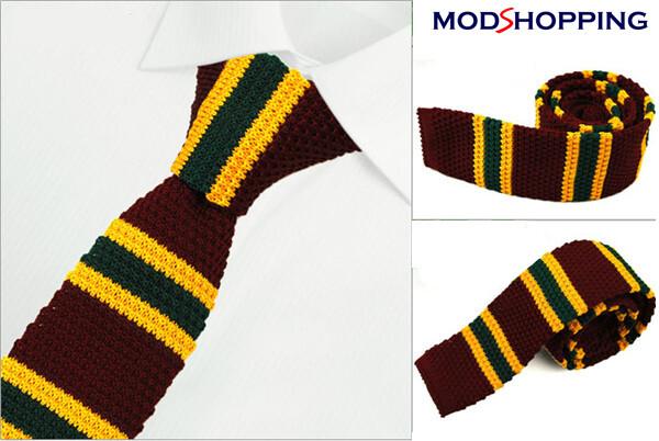 Retro Sunflower Knitted Tie  Midnight Knit Tie Uk Mod Clothing