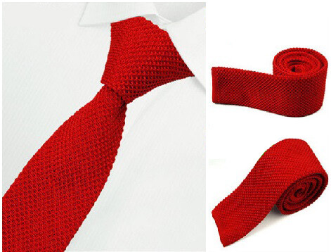 Red Kntted Tie  Mens Tie, Buy Red Essential Tie Uk Mod Clothing