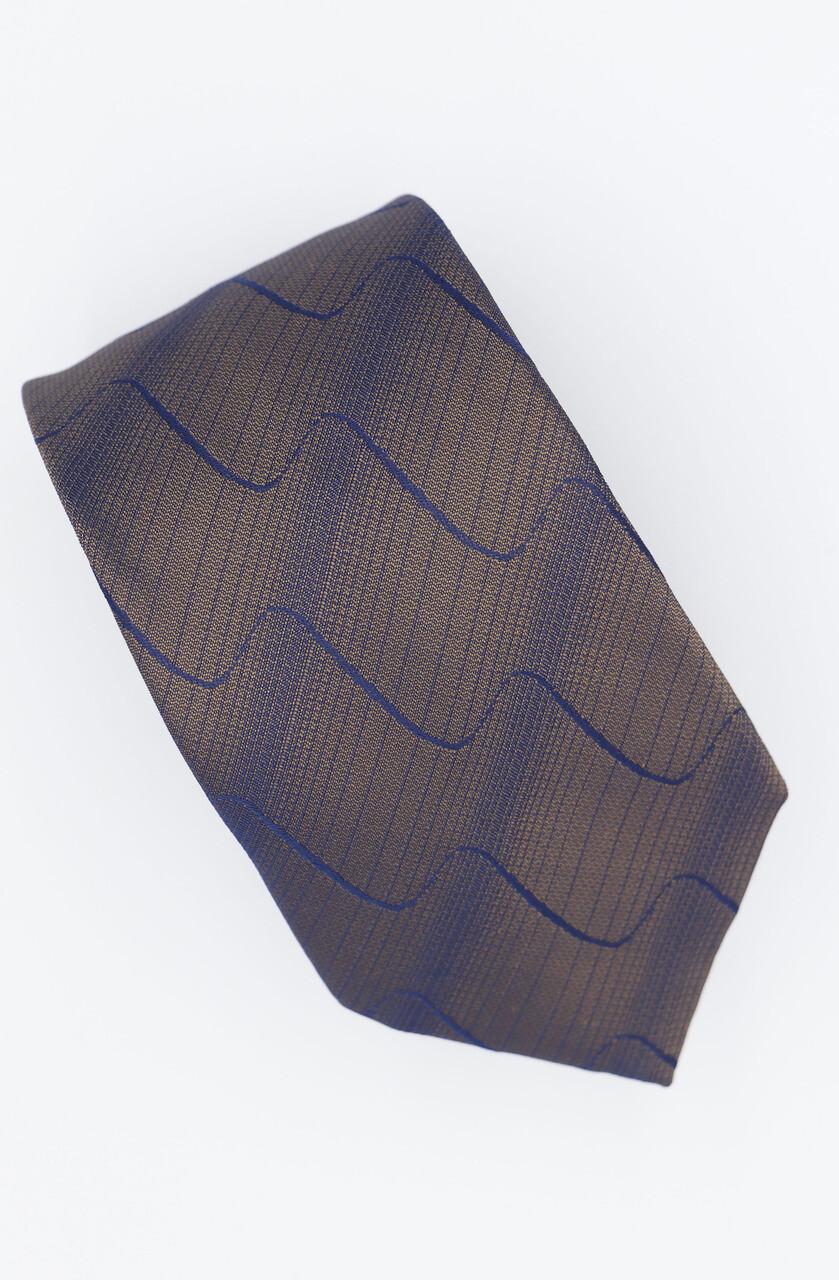 Golden Blue Silk Tie