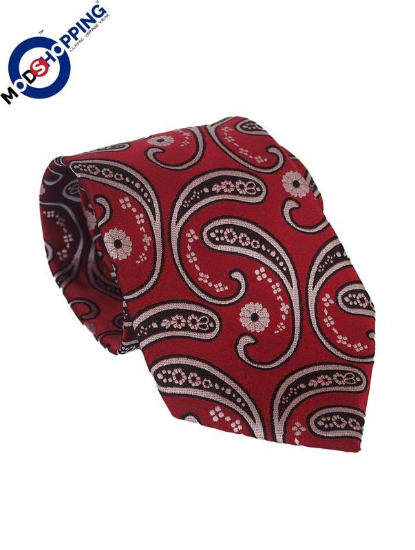 Red Paisley Neck Tie