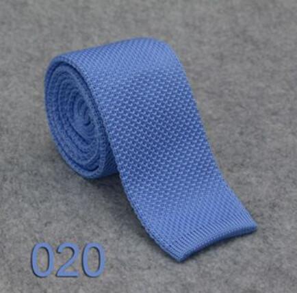 Knitted Tie  Sky Colour Skinny Neckties For Men
