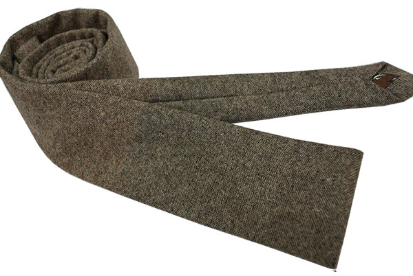 Brown Wool Tie  Hand Made Modshipping Brand Wool Neck Tie