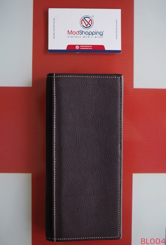 Dark Brown Long Leather Wallet The Rough Surface Of The Leather Is Easy To Carry