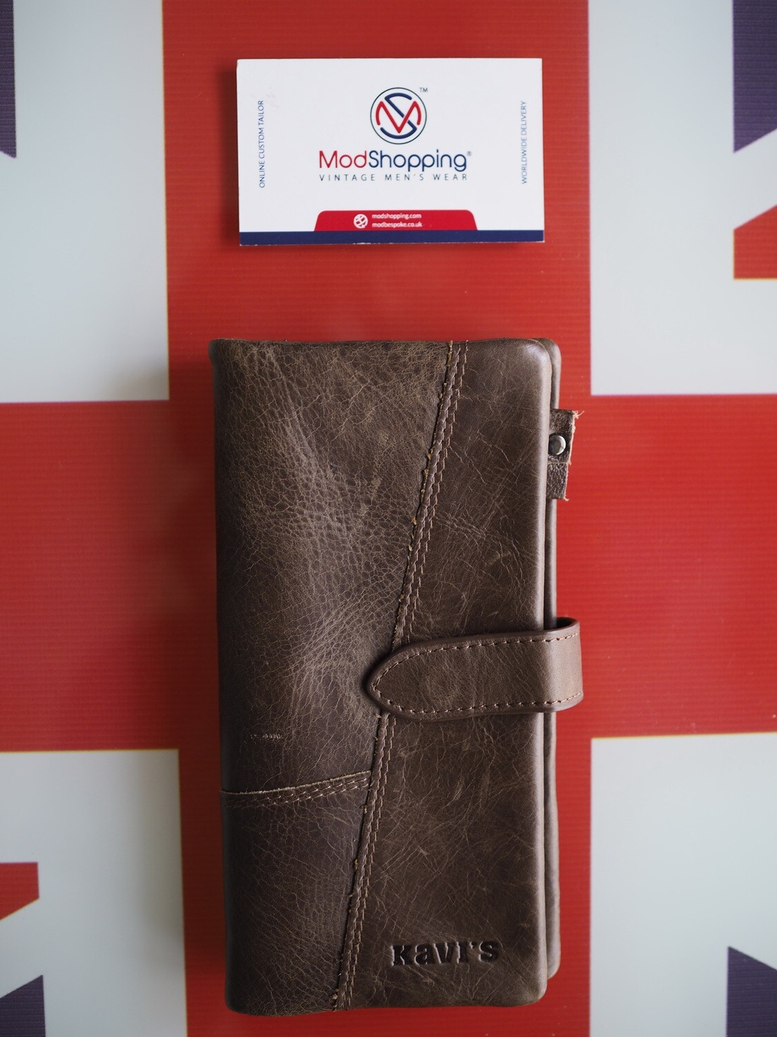 Brown Leather Wallet Rough Skin According To Traces Of Leather