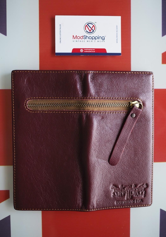 Long Leather Wallet Burgundy