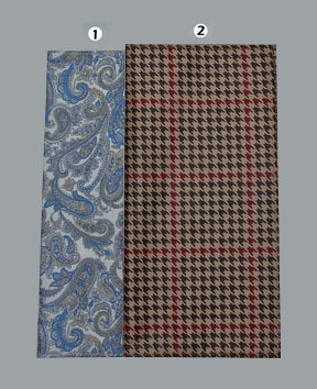 60s Mod Clothing Paisley & Dog Tooth Hankie For Men