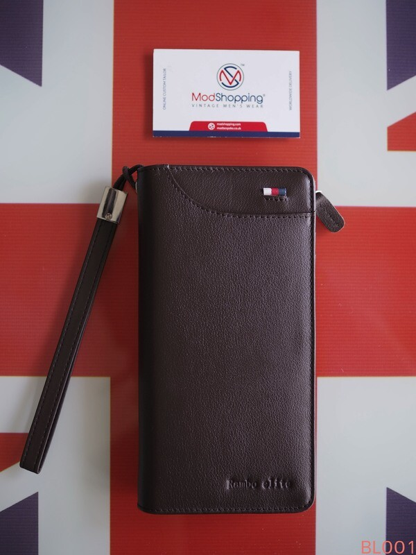 Men's Wallet Genuine Leather Wallet Vintage Style Dark Brown Color