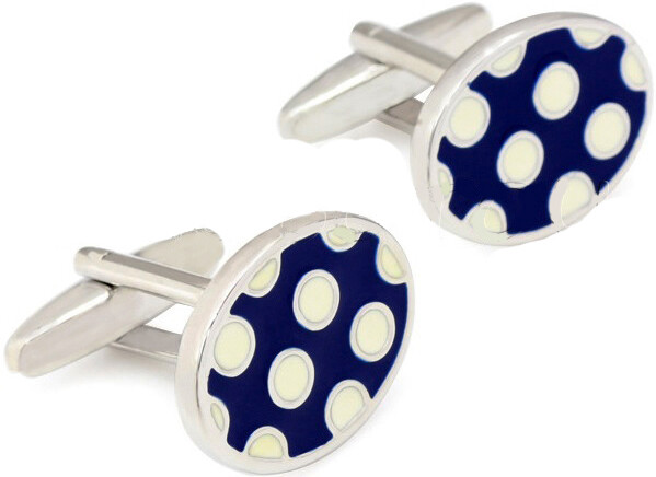 New Brand Men's Slim-Fit 60'S Mod Polka Dot Cufflinks