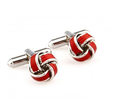 Slim Fit Stainless Steel Red Knots Cufflinks For Men Sale For Online