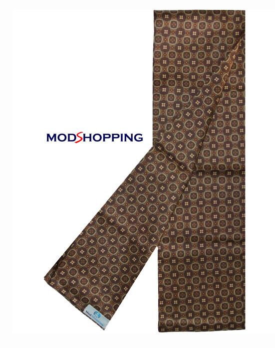 Mod Fashion Hand Made Brown Big Dot Retro Scarf For Men