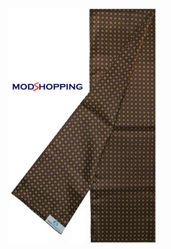 60s Mod Style Brown Small Dot Retro Scarf For Men
