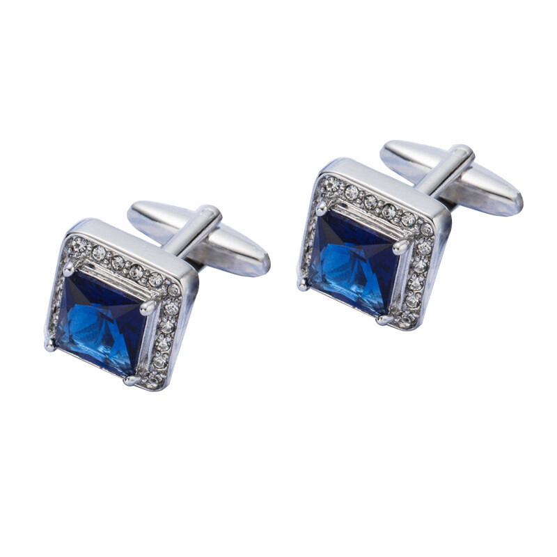 Mod Fashion Blue Stone Cufflinks For Men, 60s Clothing