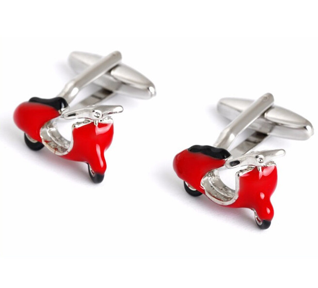 60s Mod Clothing Red Vespa Cufflinks For Men Uk