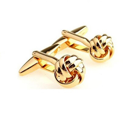 Gold Cufflinks| Stainless Steel Gold Knots Cufflinks For Men