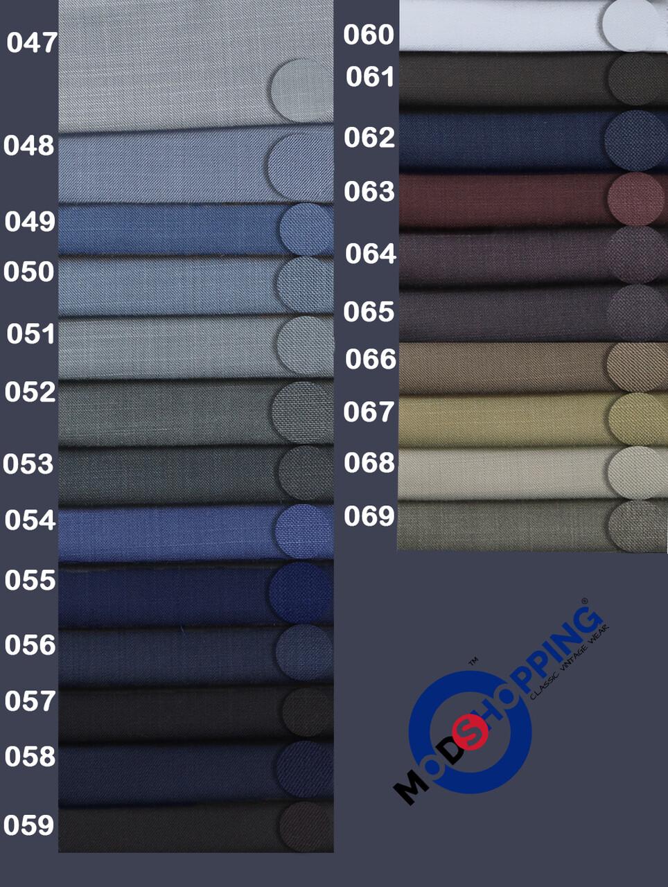 Custom 2 Piece Pale Wool & Mohair Mix Suit