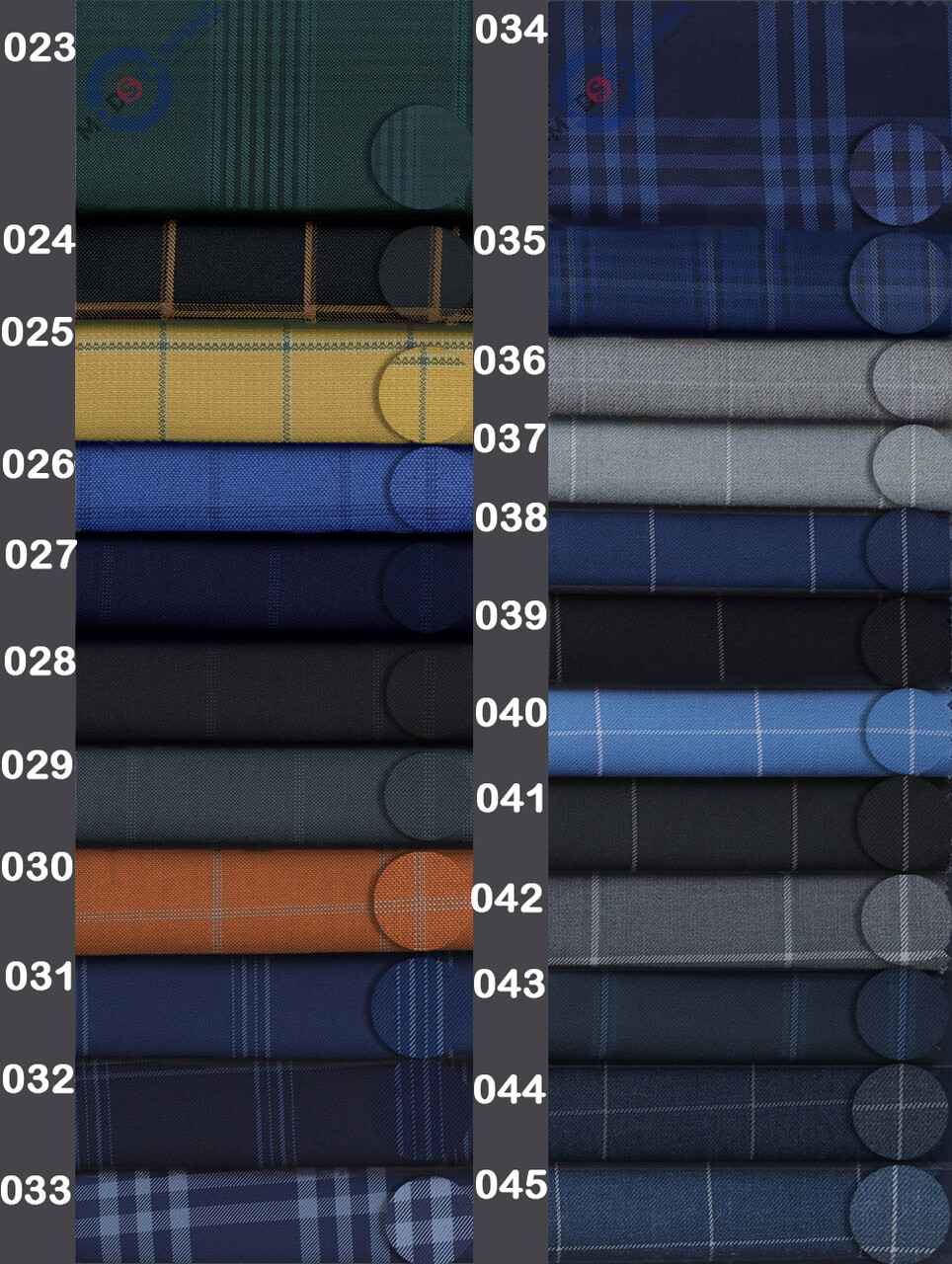 Custom Suit Windowpane Check 2 Piece Suit