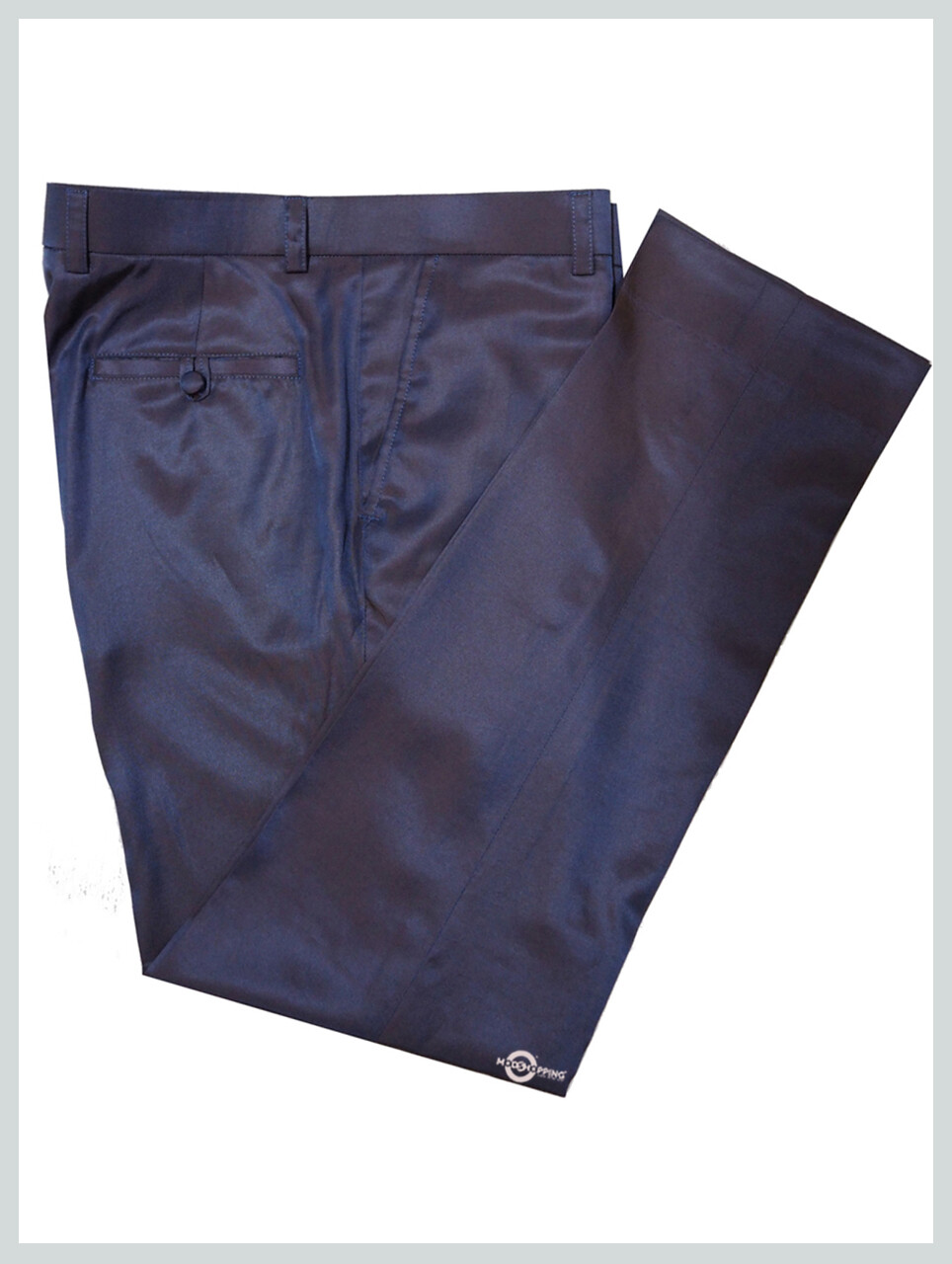 Golden Blue Two Tone Trouser For Ladies