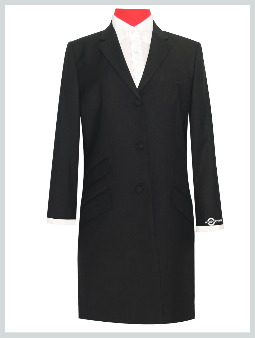 Vintage Style Black Ladies Long Jacket