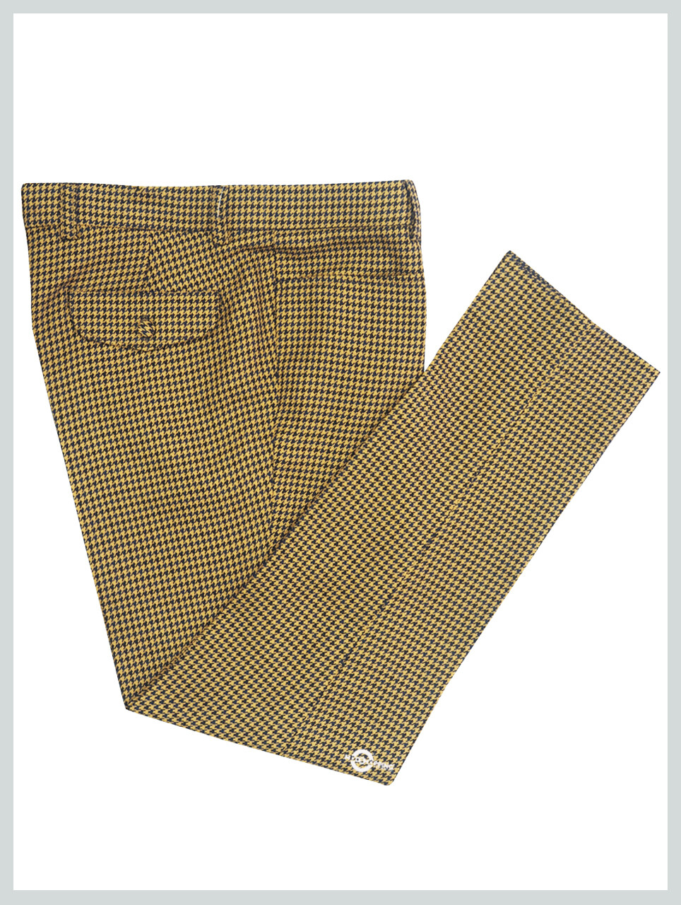 Yellow & Black Houndstooth Ladies Trouser