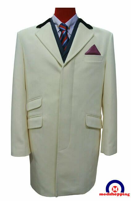 Overcoat| Original Mod Style Off White Long Winter Over Coat For Ladies.