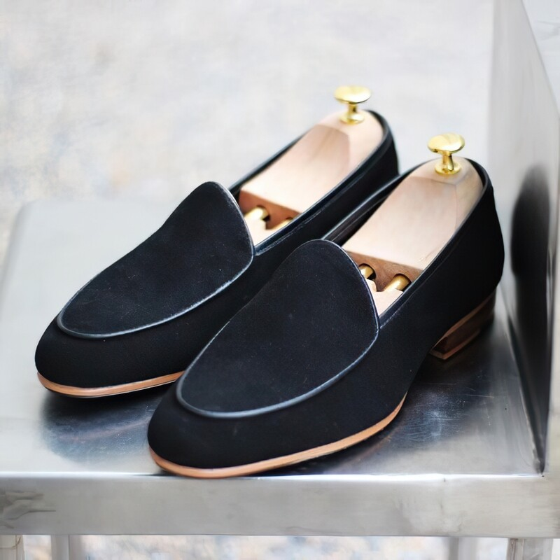 Loafers Suede Loafers Navy Blue Colour