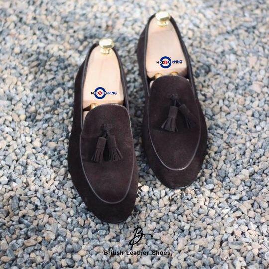 Shoe Tassel Loafers Suede