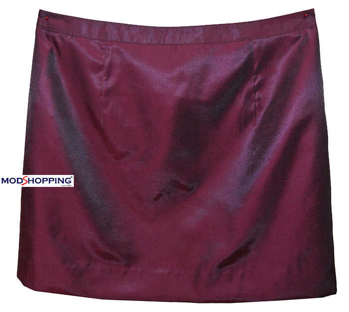 60'S Burgundy Tonic Skirt