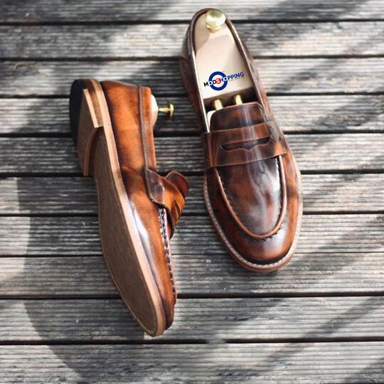 Leather Shoe Premium Brown Penny Loafer