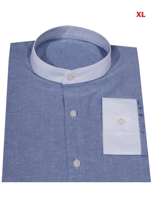 This Shirt Only. Grand Dad Collar Blue Color Shirt