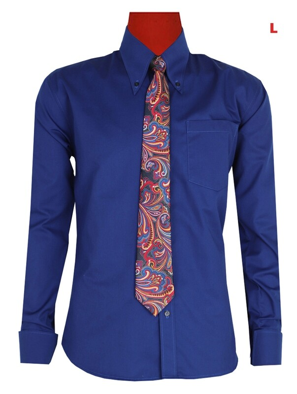 This Shirt Only. Button-Down Pointed Collar  Blue Color Shirt