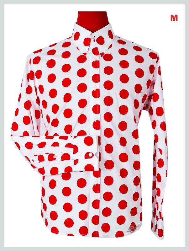 This Shirt Only  Large Red Dot In White Shirt .