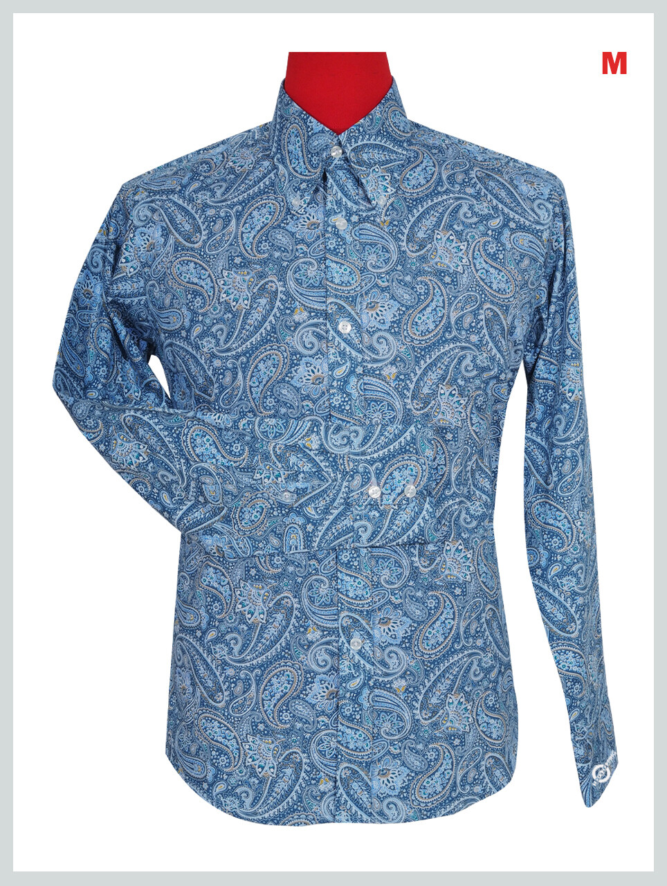 This Shirt Only  Blue Multi-Color Paisley Shirt
