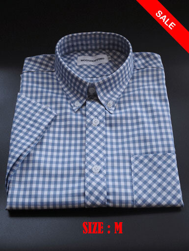 This Shirt Only Gingham Blue Color Shirt