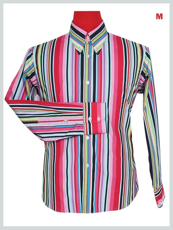 This Shirt Only. Candy Stripe Multi Color Shirt