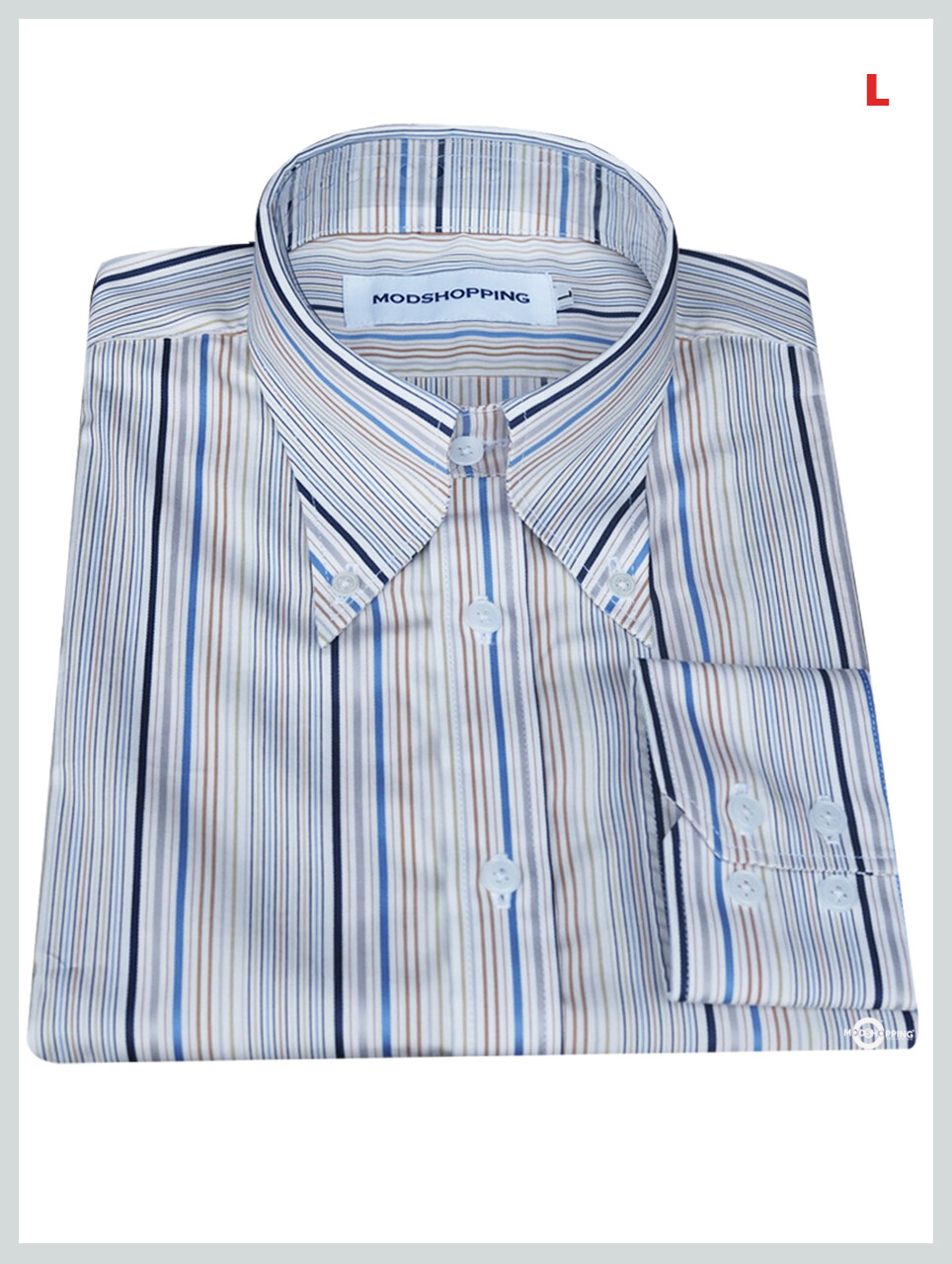 This Shirt Only. Multi-Color Stripe Shirt
