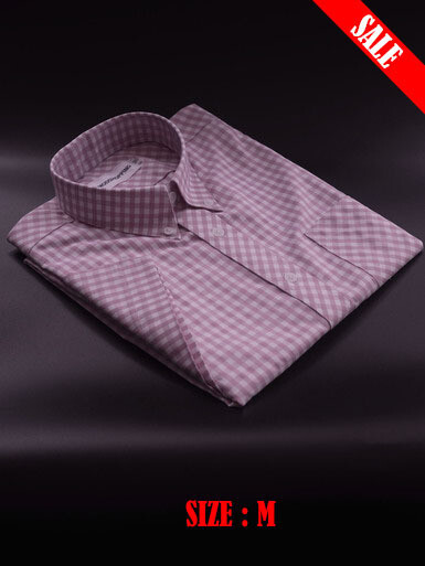 This Shirt Only Gingham Pink Color Shirt