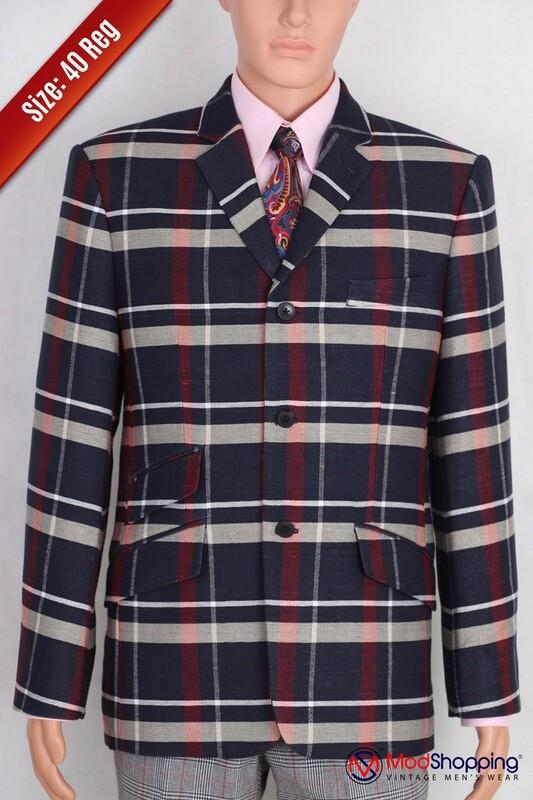 Summer Jacket 60s Tailored 3 Button Sky Summer Jacket.